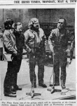 Press cutting of photo of PRESS GANG singing in Liberty Hall