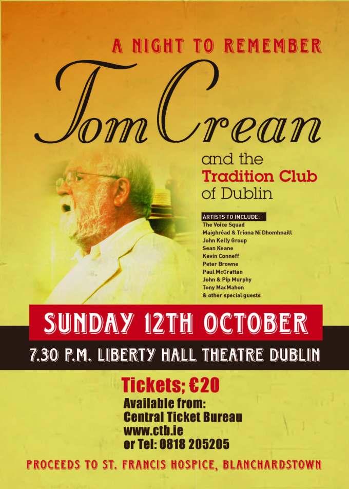 Poster for Tom Crean Concert Oct 2014