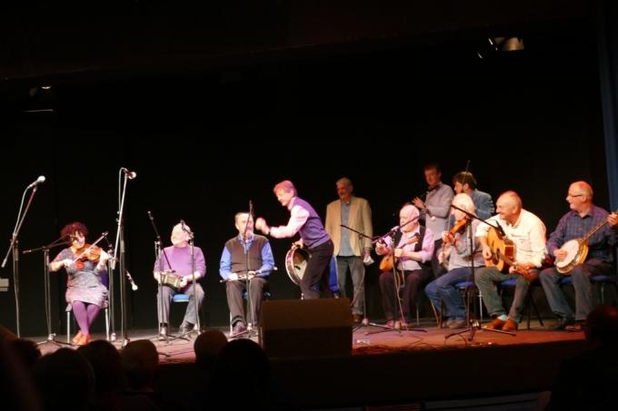 Phot band preparing, Tom Crean Concert